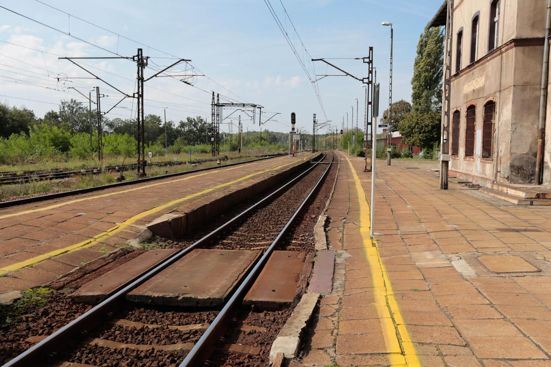 Obrazek: stacja Rudziniec Gliwicki - przed modernizacją.