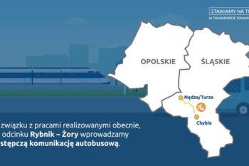 Obrazek: wycinek infografiki z województwem śląskim i opolskim.