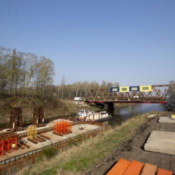 Zdjęcie: remont mostu nad Kanałem Kędzierzyńskim.