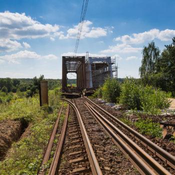 Zdjęcie: lato, widok na most na Kanale Gliwickim.