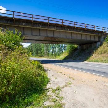 Zdjęcie: letni widok na wiadukt nad DK94.