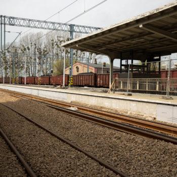 Zdjęcie: peron na Stacji w Rybniku w trakcie remontu.