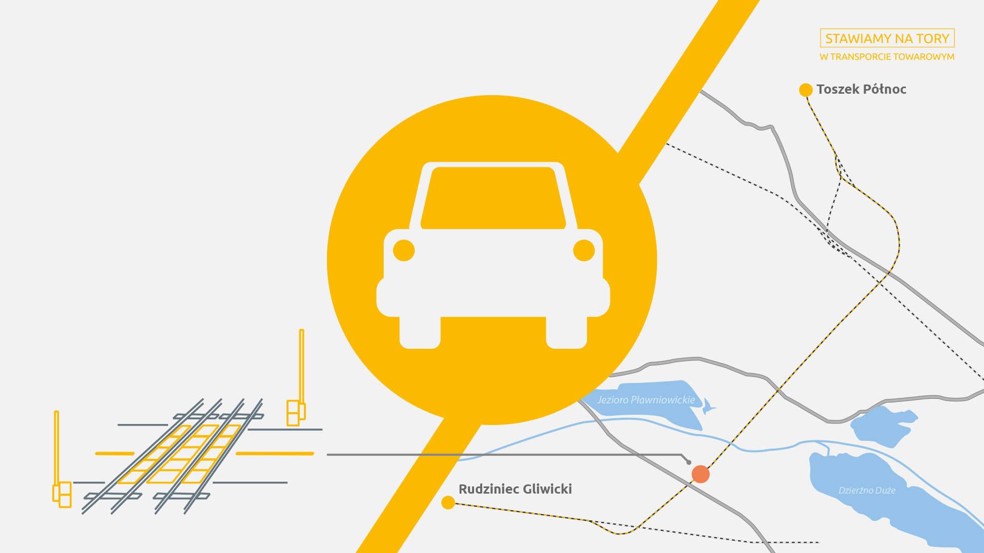 Obrazek: żółty samochodzik