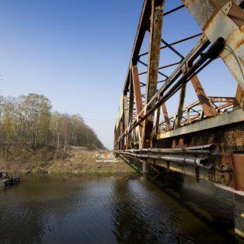 Zdjęcie: stary most na Kanale Kędzierzyńskim.