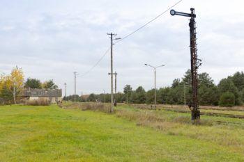 Siewierz: stary semafor na stacji Siewierz.