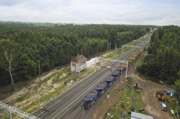 Zdjęcie: widok z góry na stacje Chociw Łaski