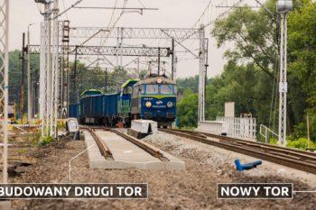 Zdjęcie: pociąg jedzie po nowych torach